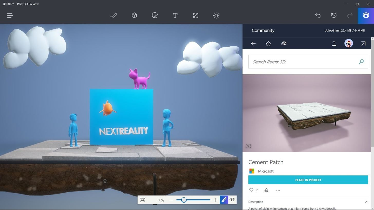 Microsoft Gives Windows Insiders Peek into New Paint 3D