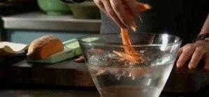 Make sweet potato matchsticks with Tyler Florence