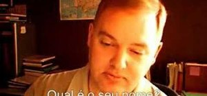 Say basic greetings in Brazilian Portuguese