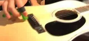 Change the strings on your acoustic guitar