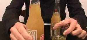 Perform the instant freezing beer bottle trick