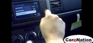 Change the time on a 2010 Nissan Sentra Spec-V