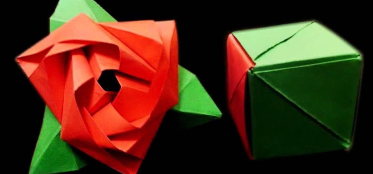 Fold a Magic Rose Cube—A Flower in a Box Origami Puzzle