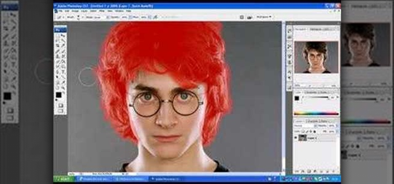How To Change Hair Color In Photoshop Cs3 Easily Photoshop