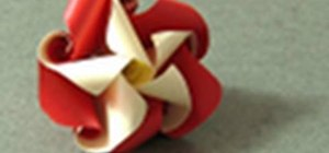 Origami Mother's Day twisted flowers