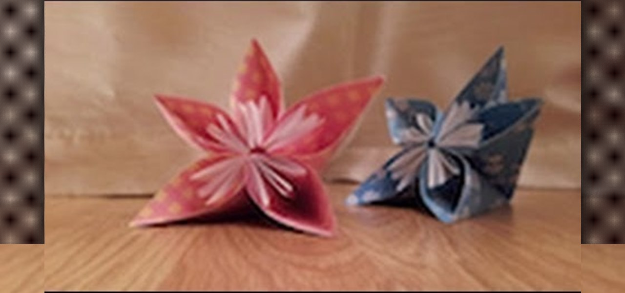 Make an Origami Japanese Kusudama Flower - Tutorial