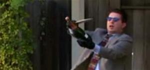 Open Champagne with a sword