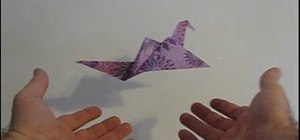 Origami a great looking flapping bird