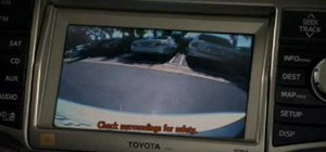 Use the backup camera on a 2010 Toyota 4Runner