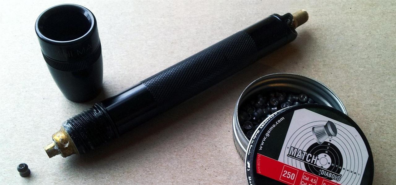 Hide an Air-Powered BB Gun Inside a Mini Flashlight