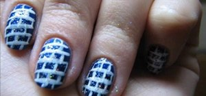 Create a bricks motif manicure nail look