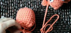 Crochet a goldfish style dog or cat chew toy