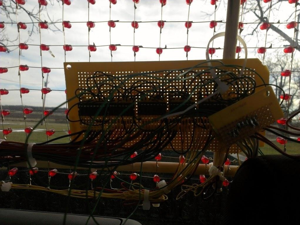 Keep Cars Off Your Bumper with This Arduino-Controlled Rear Window LED Marquee