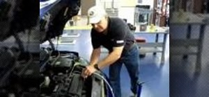 Change the oil to a car topside