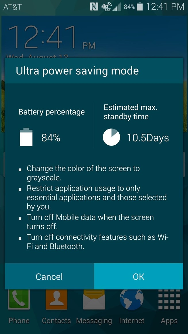 Use Any App in Ultra Power-Saving Mode to Extend Battery Life on the Galaxy S5 or Note 3