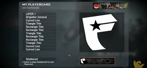 Draw the Famous logo in the Call of Duty: Black Ops Emblem Editor