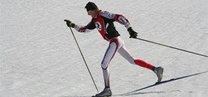 Cross country ski with the basics of diagonal stride