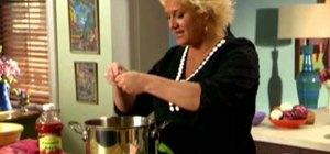 Make a creamy Tuscan tomato soup with Anne Burrell