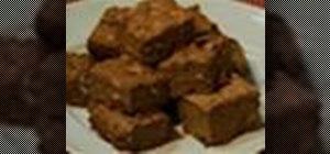Bake chocolate fudge brownies with nuts