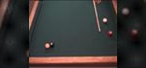 Shoot the cue ball into a frozen ball combination