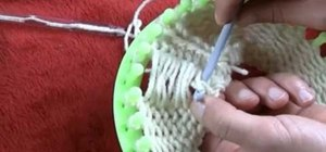 Do pearling in loom knitting the easy way