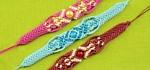 Beaded Macrame Bracelets in Two Colors