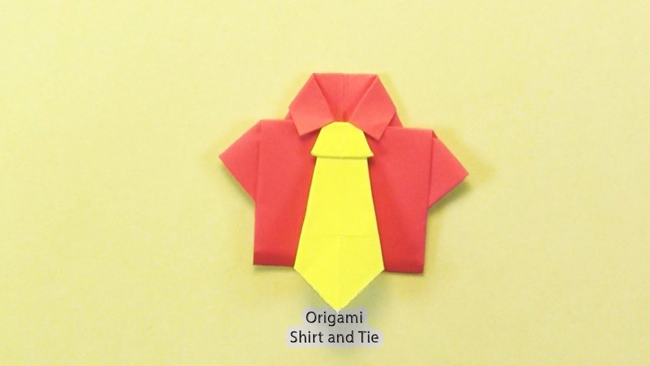 How to Origami Shirt and Tie