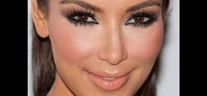 Create Kim Kardashian's soft winged smoky eyes