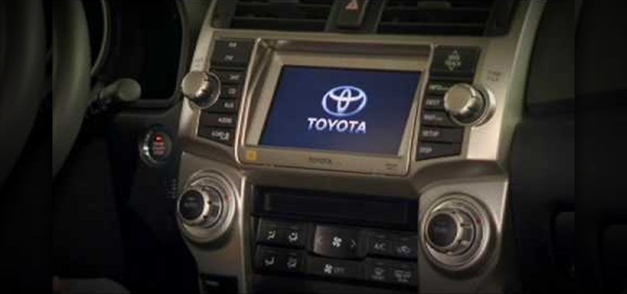How To Use The Navigation System On A 2010 Toyota 4runner