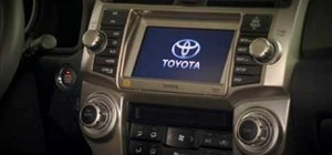 Use the navigation system on a 2010 Toyota 4Runner