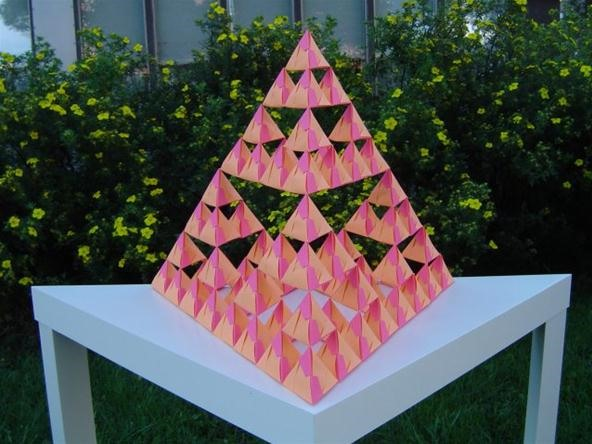 the sierpinski triangle essay Decomposing a triangle into four congruent triangles  popular examples of this  phenomenon was invented by the polish mathematician waclaw sierpinski.