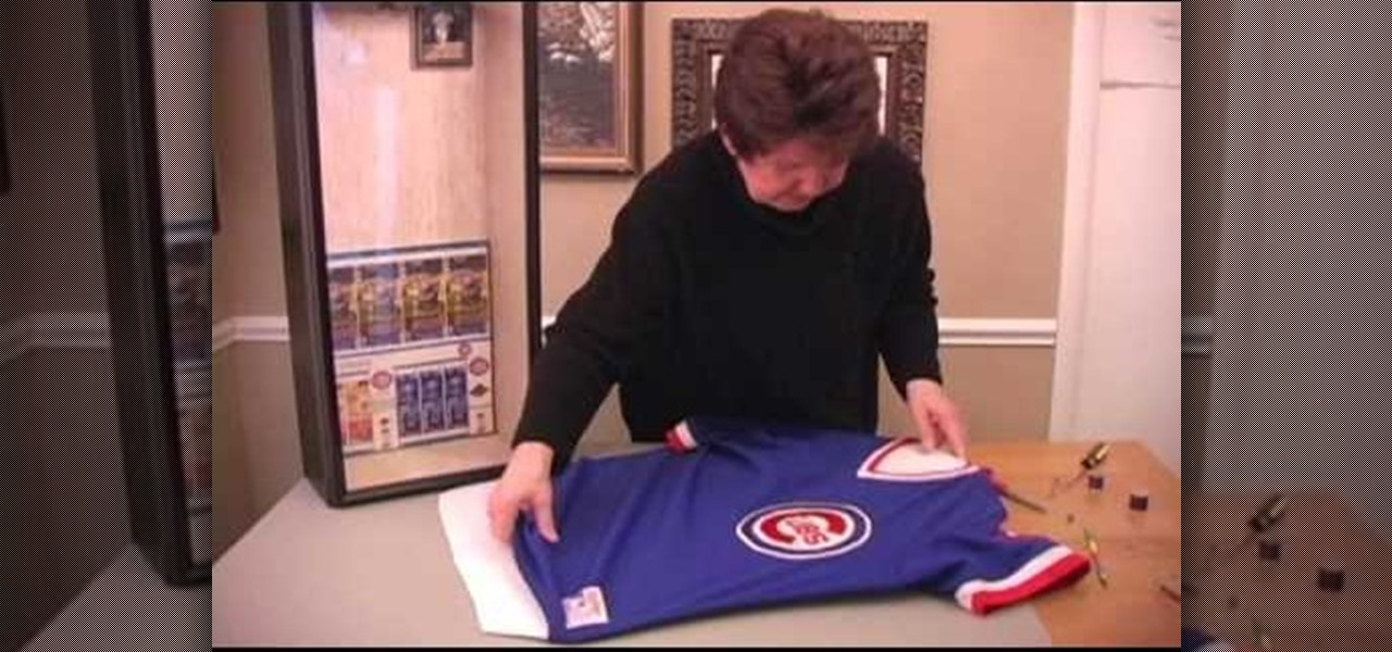 How To Frame A Jersey >> How To Frame A Sports Jersey Papercraft Wonderhowto