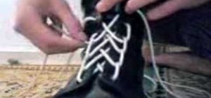"Tie your shoes with a ""spider web"" shoelace style"