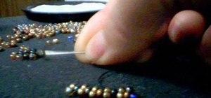 Do a flat peyote beadwork stitch