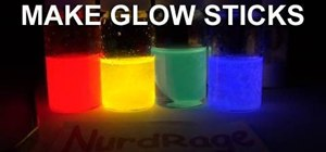 Make glow sticks with DEP, TCPO, sodium acetate & dye
