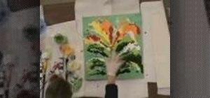 Pour acrylic paint