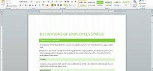 Changing line spacing settings in Microsoft Word 2010