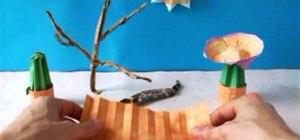 Fold a mini cute origami cactus