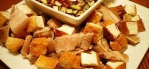 Make Filipino tokwa't baboy (fried tofu & pork)