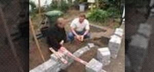 Build a garden retaining wall