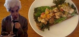 Make Jerk chicken salad with Jerk rum and orange juice marinade