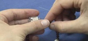 Finish a bracelet with crimps and crimp covers