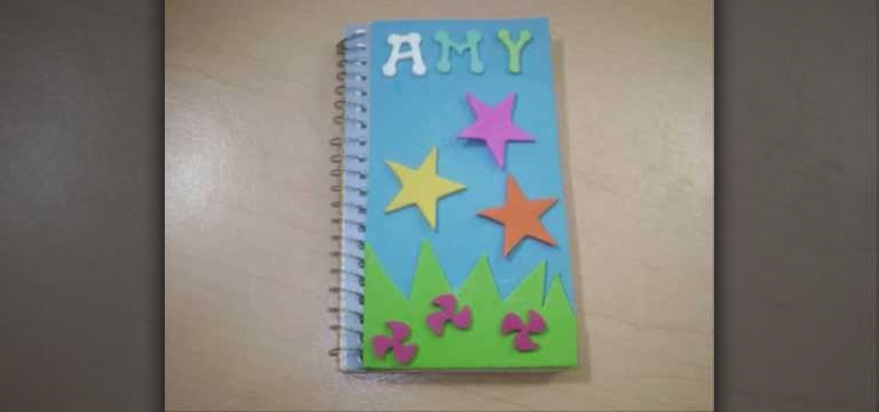 How To Decorate A Spiral Notebook With Your Children