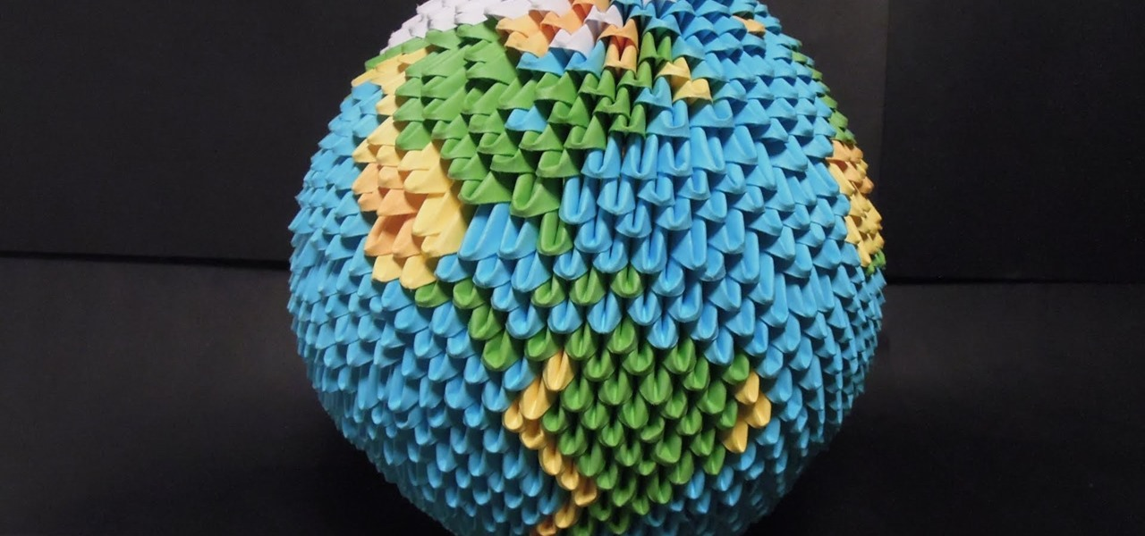 Make a Sphere Shaped Origami Earth (difficult)