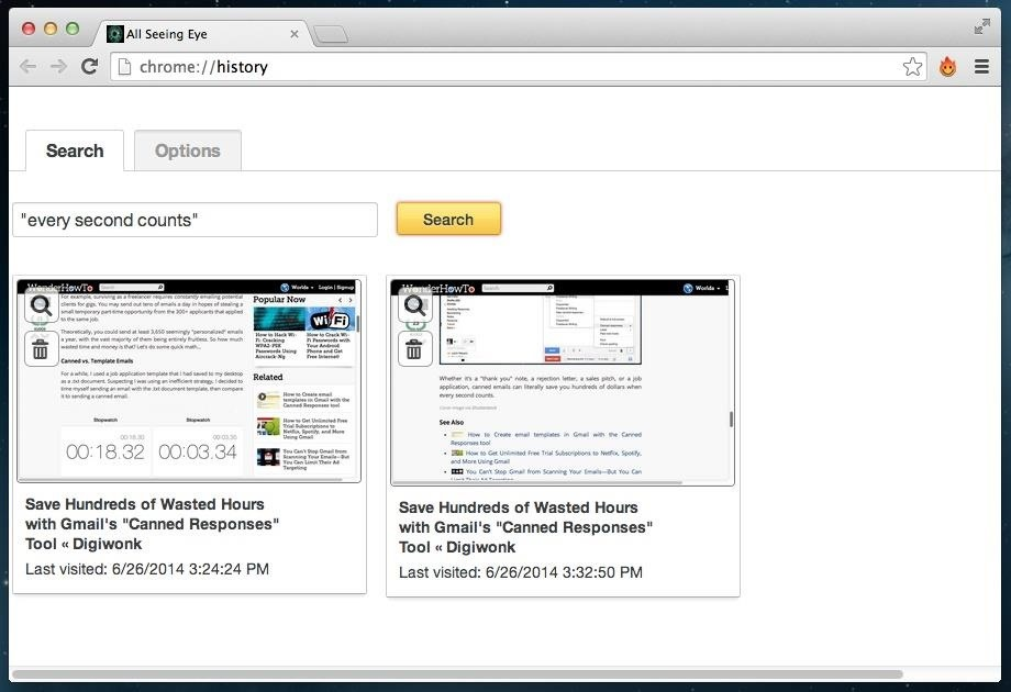 Search Your Chrome History More Easily by Indexing All Text from Webpages Visited