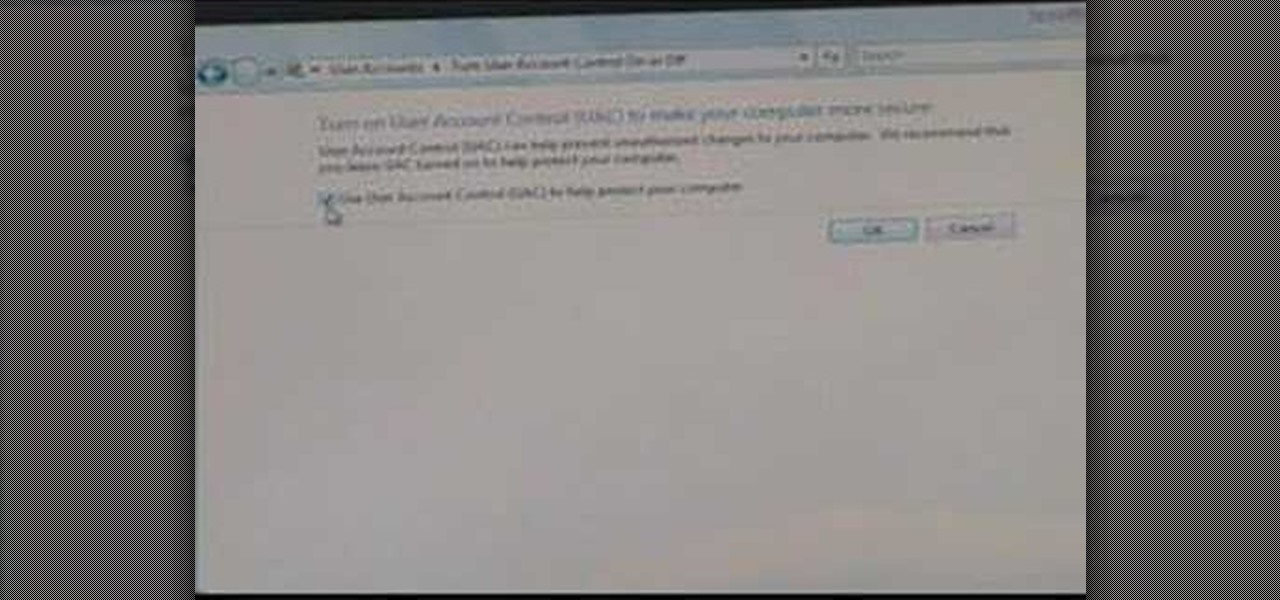 how to stop user account control