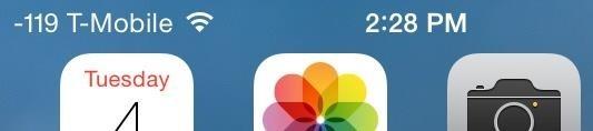 Unlock a Hidden Network Strength Meter for Your iPhone's Status Bar