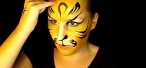 Do theatrical tiger face paint
