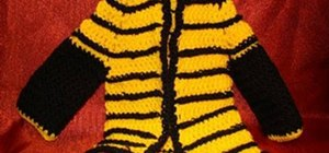 Make a crochet bumble bee sweater for a baby