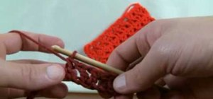 Do a crochet offset V stitch for right handers